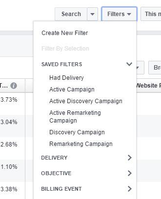Sample filter ads